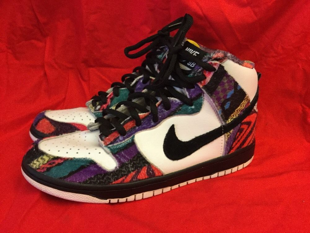 buy popular 0f2ab bc9e0 Nike SB Dunk High Cosby Sweater - Coogi Huxtable Size 11 ...