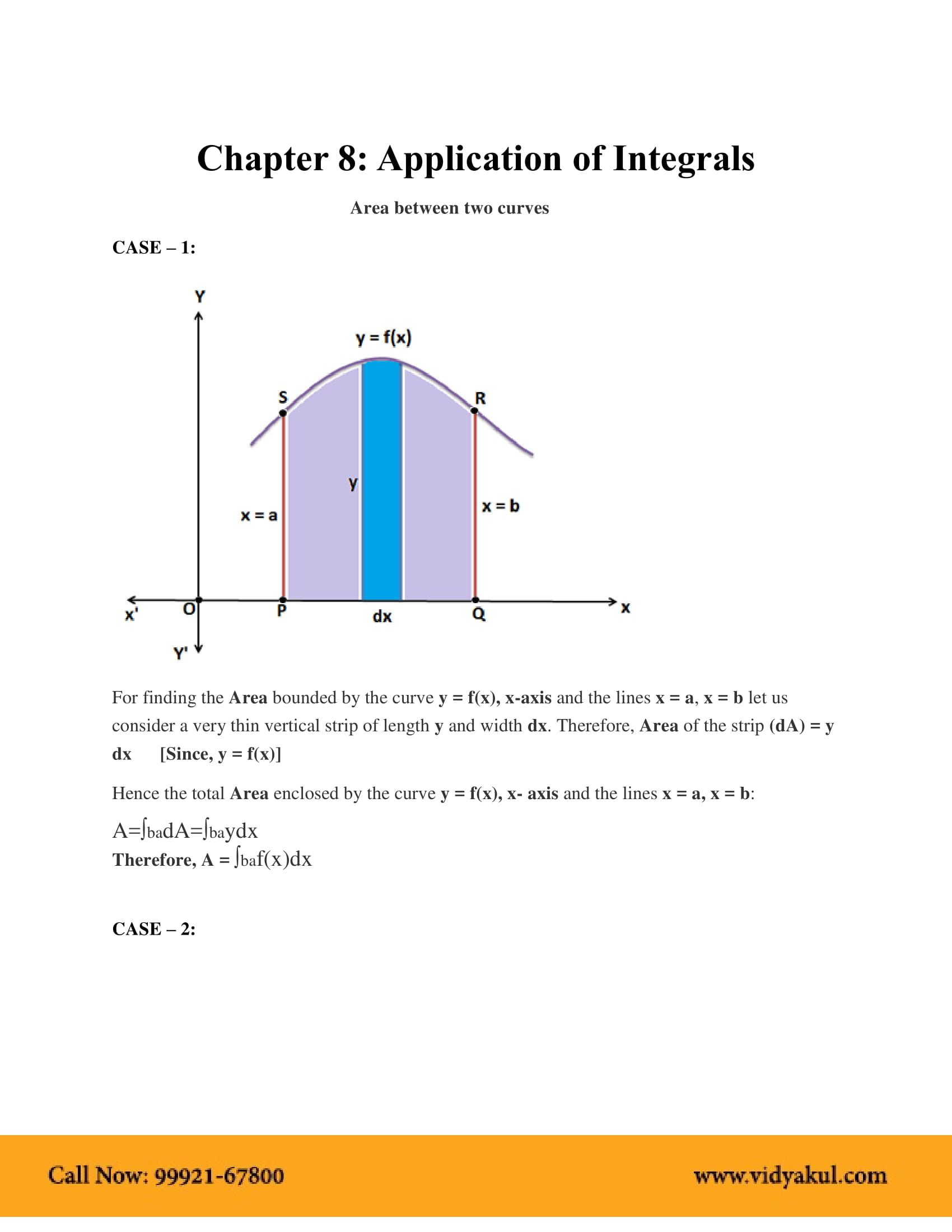 Updated Learning Finding The Area Between Two Curves