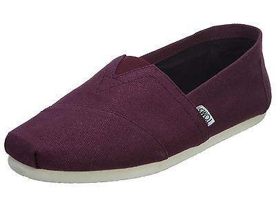 6a775411b43 Toms Classics Mens 10006564-Red Mahogany Canvas Casual Slip On Shoes Size  9.5