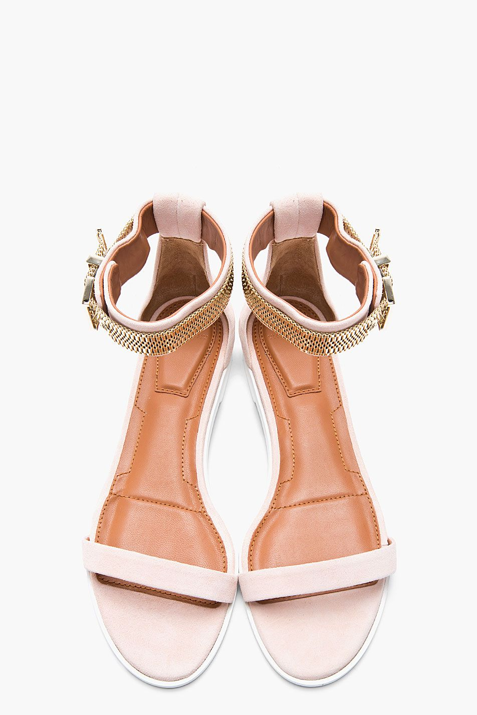 d9ed7a764613 Givenchy Blush Suede Chain-embellished Sandals for women