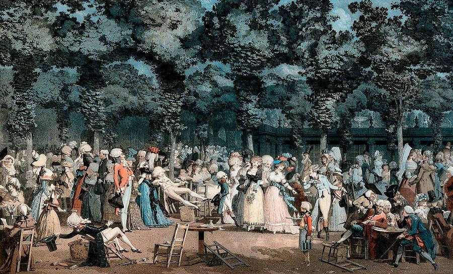 Debucourt, The Public Promenade; 1792.