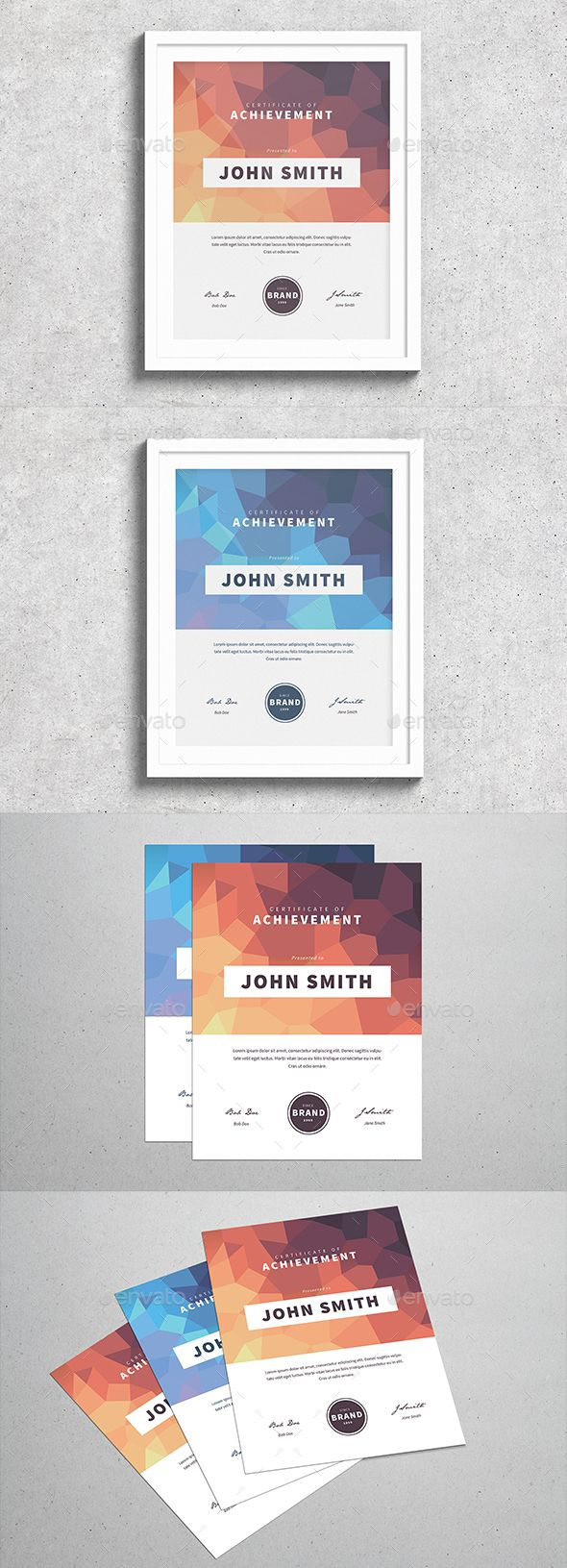 Modern Polygonal Certificate | Pinterest | Urkunden