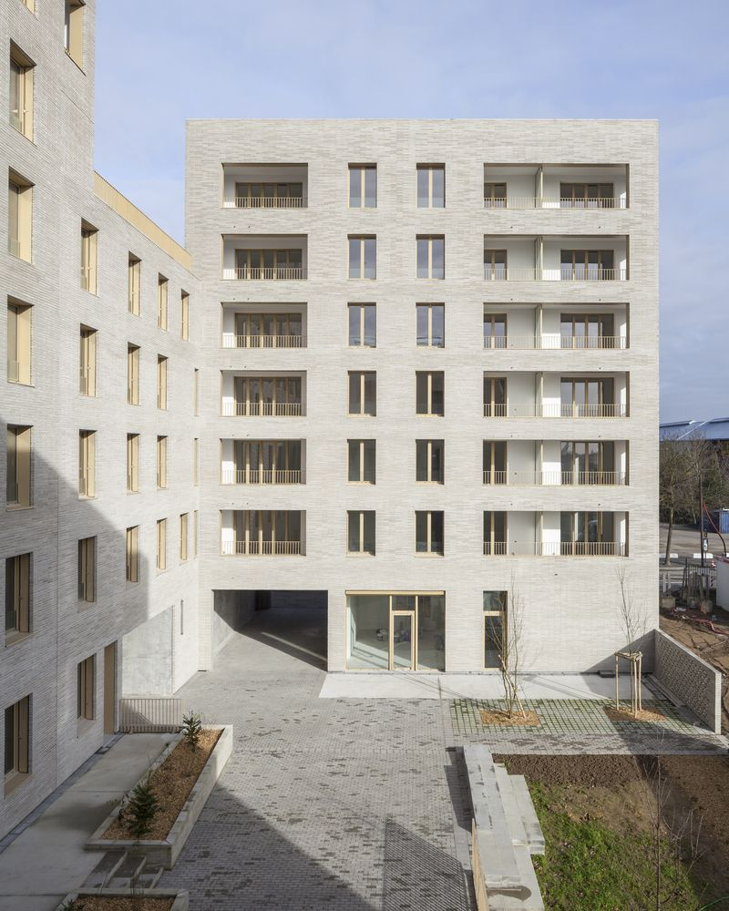 Gallery Of Zellige Housing Complex Tectone Tact Architectes 5 Brick Architecture French Architecture Architecture