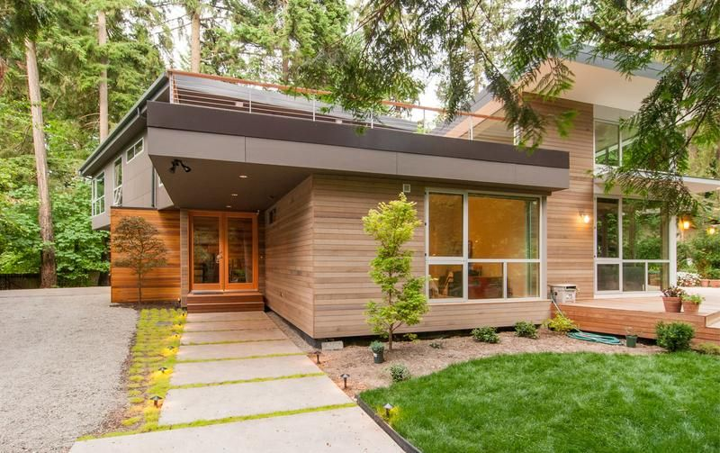 Pin by Nora Kay on Home Exterior Designs Flat roof