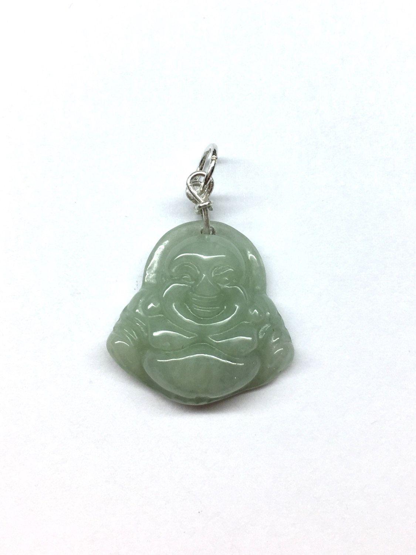 Fine Black Green Jade Money Buddha Tibetan Buddhism Amulet Pendant