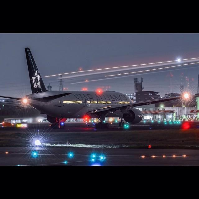 Megaplane On Night Aviation Industry Aircraft