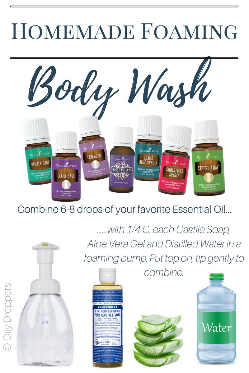 Homemade Foaming Body Wash Body wash essential oils