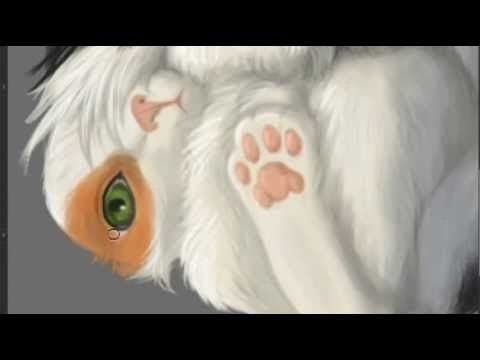 painting textures - fur - YouTube