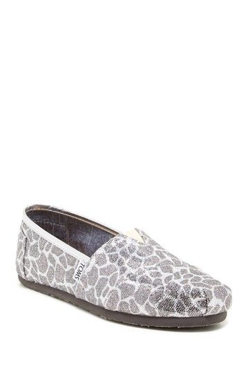 0fc56794ece Giraffe Glitter Classic Slip-On Shoe by TOMS on  HauteLook Can t wait for  them to come in!!!
