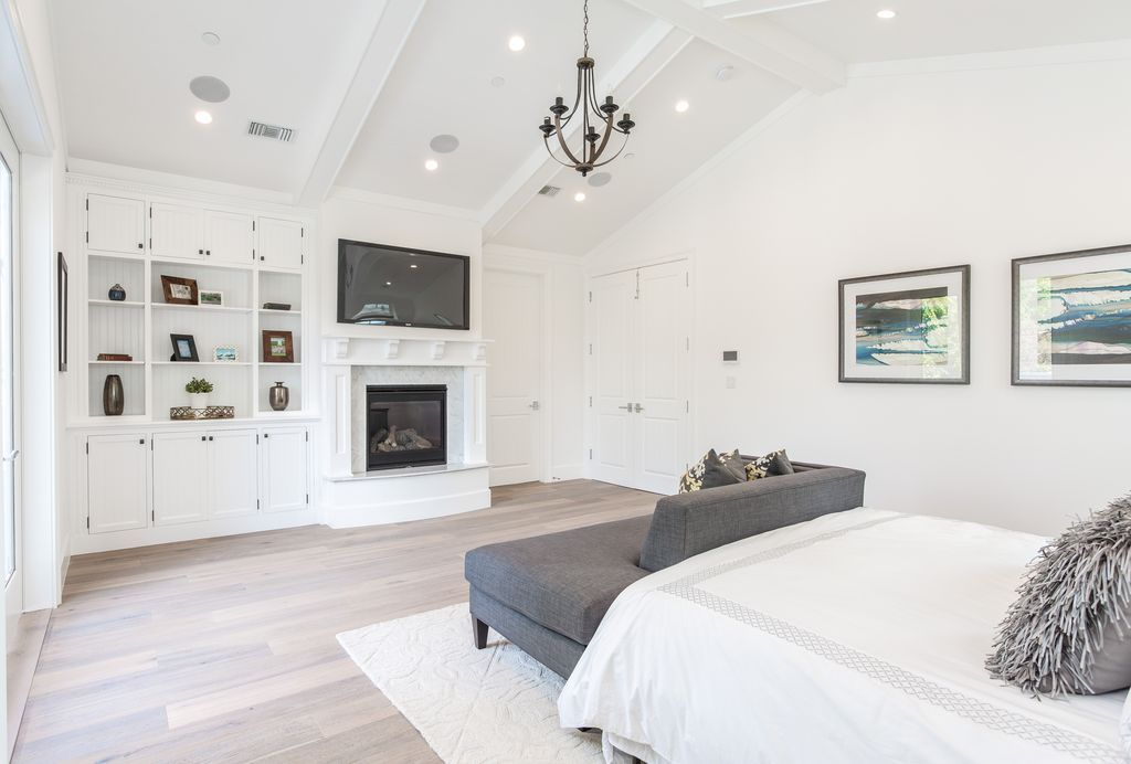 Transitional Master Bedroom with Carpet, Armstrong Prime