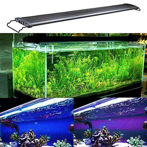 Ae Shop Led Aquarium Hood Lighting Fish Tank Light Lamp For Freshwater Saltwater Blue And White Decorations Aquarium Lighting Saltwater Tank Fish Tank Lights