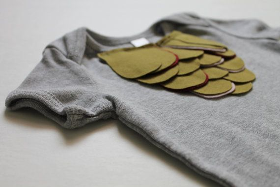 little girl bodysuit--mermaid scales on ash grey--olive with hints of berry and blush--hudson & ruthie