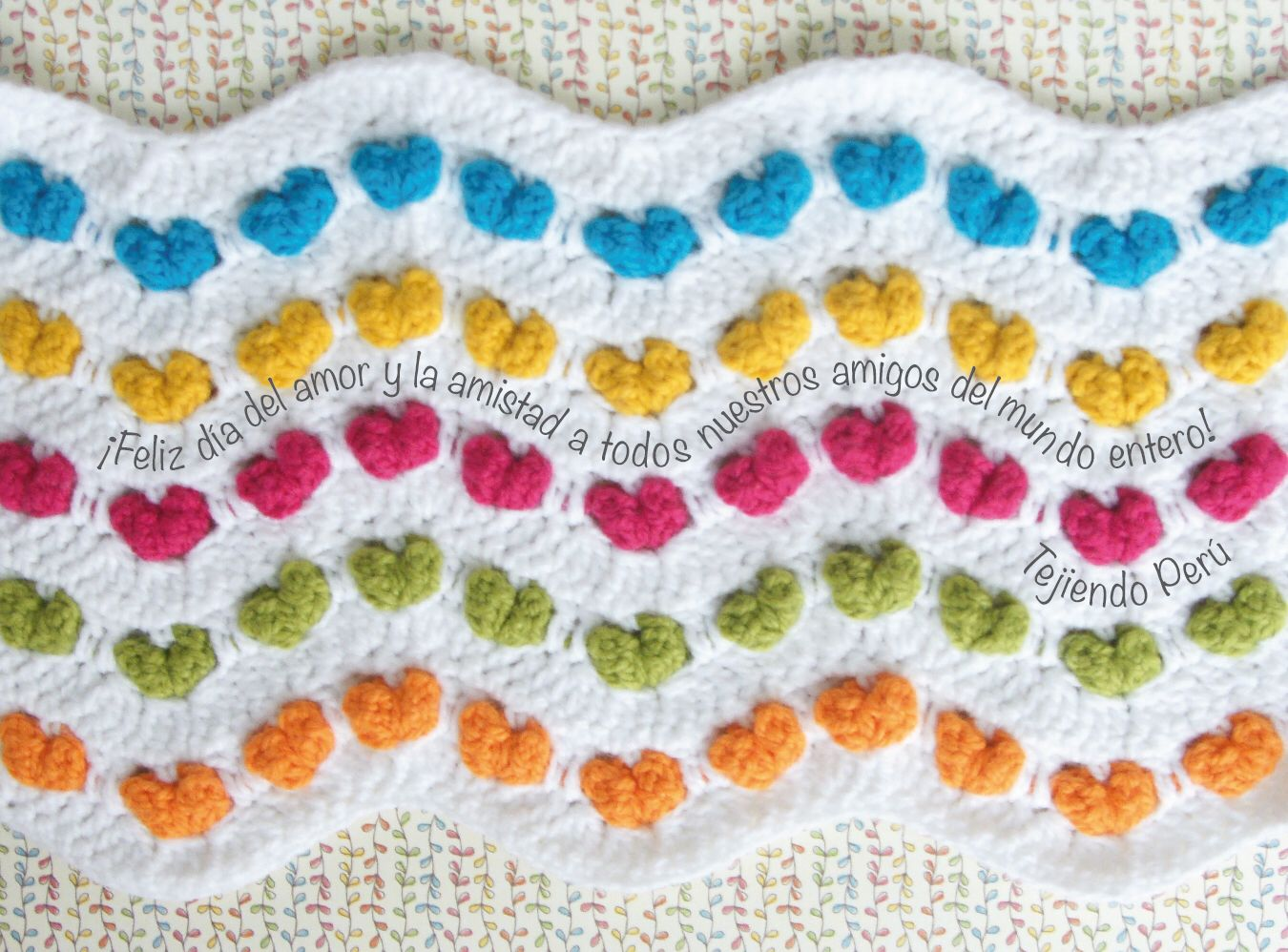 ¡Feliz día del amor y la amistad amigos tejedores de todo el mundo!  Abrazos de parte de todo el equipo de Tejiendo Perú, Esperanza, Ana Celia, Lorena y José  #valentines #SanValentin #valentine #crochet #knit #tejer #diy #ganchillo #tejiendoperu #amor #love #amistad
