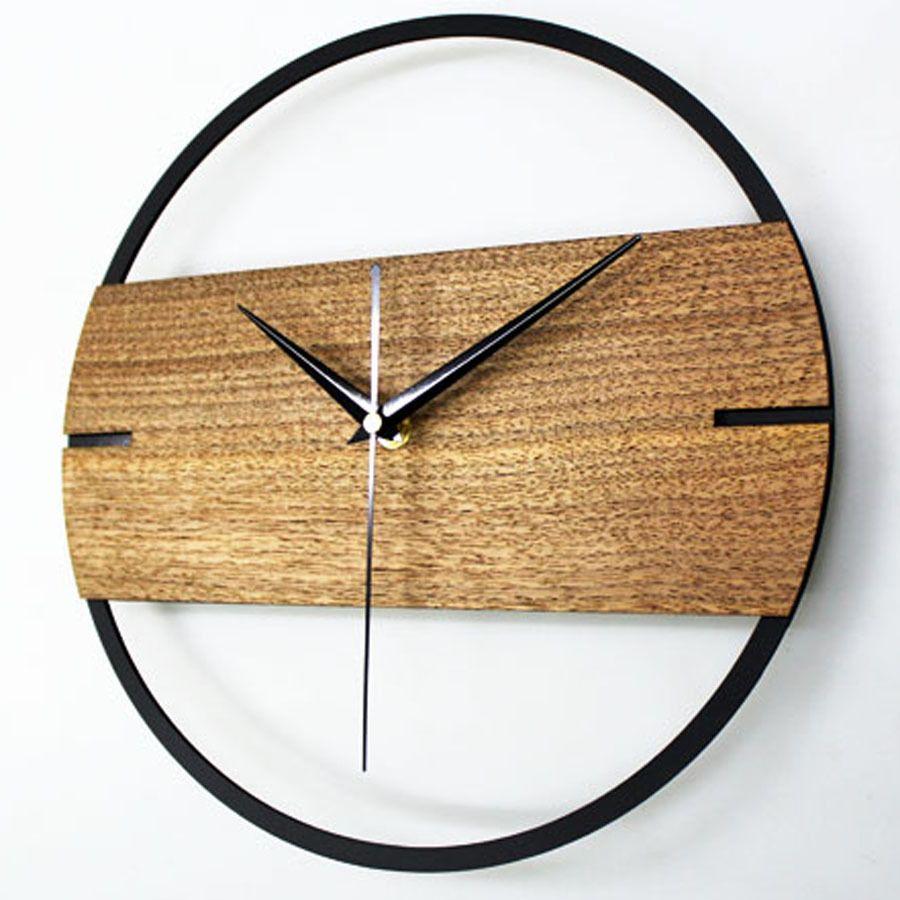 Creative Home Fashion Simple Wood Wall Clock Home Decor Watch 12
