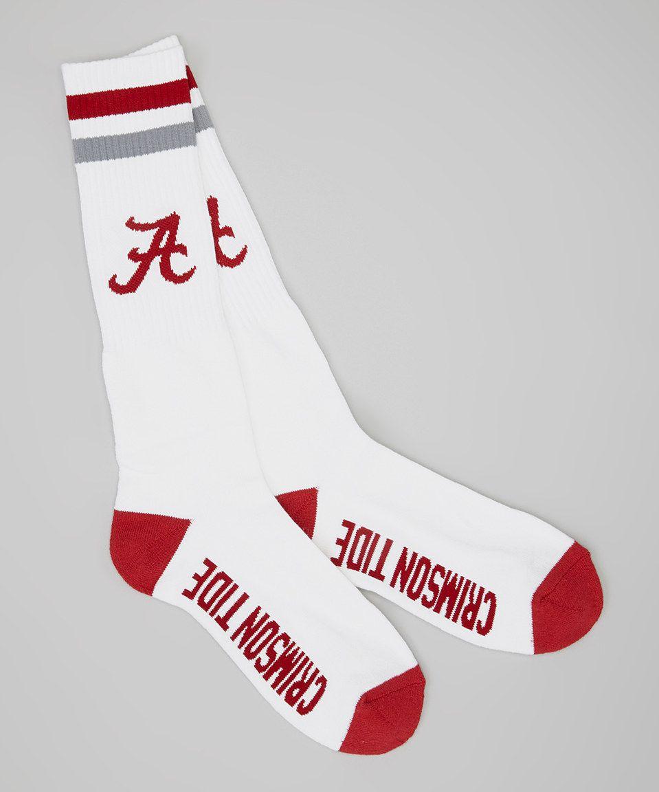 Look at this #zulilyfind! Alabama Crimson Tide Tube Socks by Donegal Bay #zulilyfinds