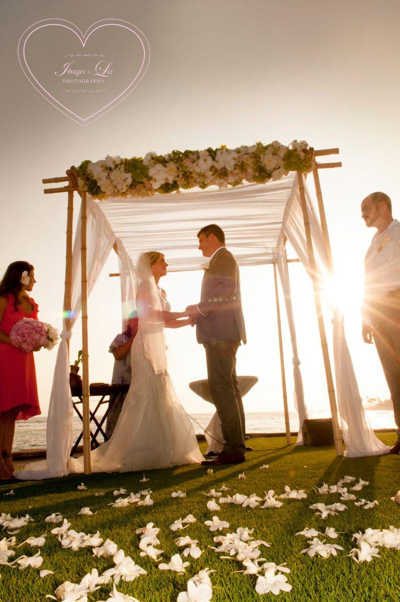 Beautiful Beach House Kauai Wedding Ceremony On The Lawn Please Check Out Www Imagesbyliz