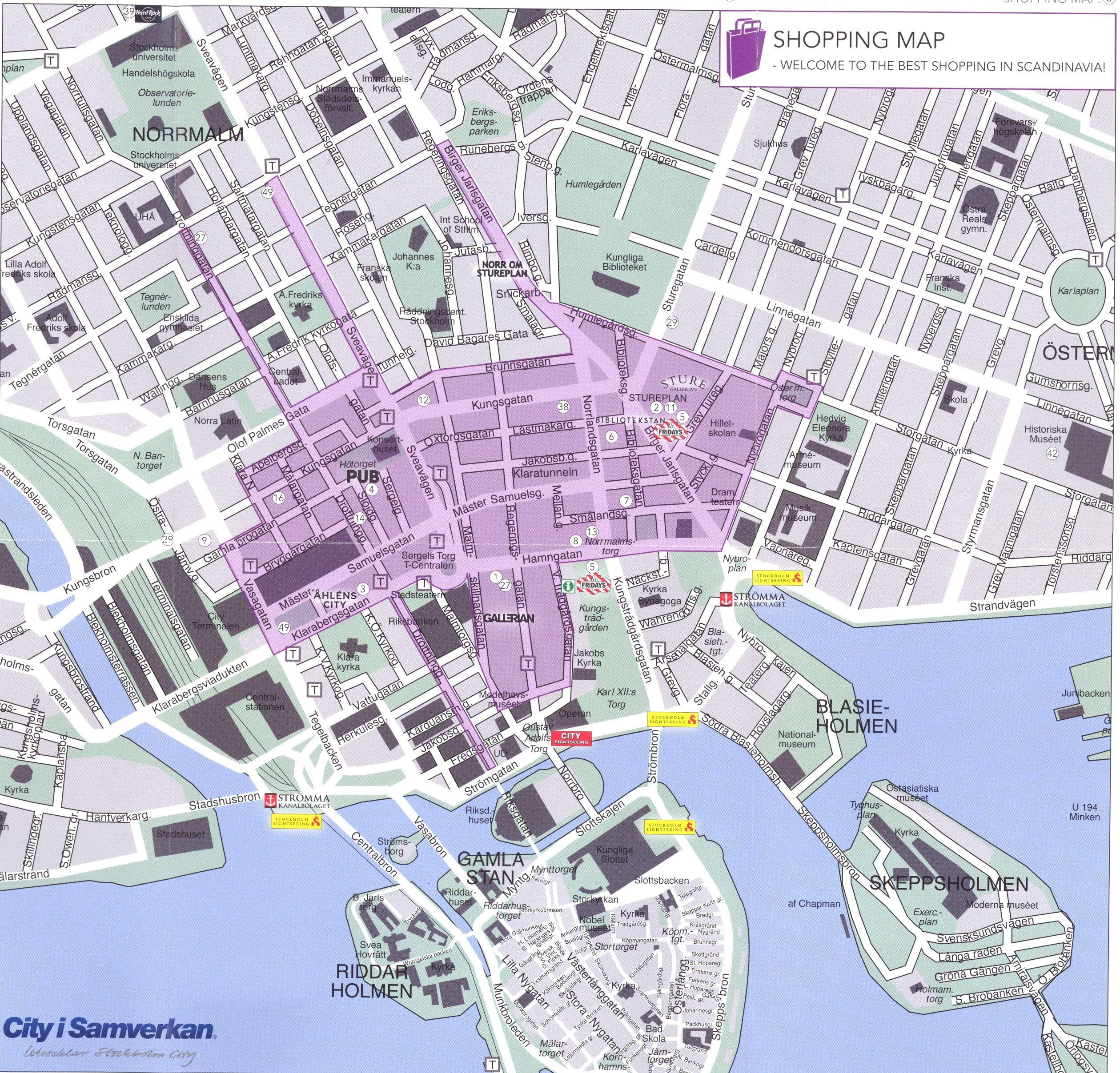 Stockholm Shopping Map Stockholm Mappery Stockholm Shopping