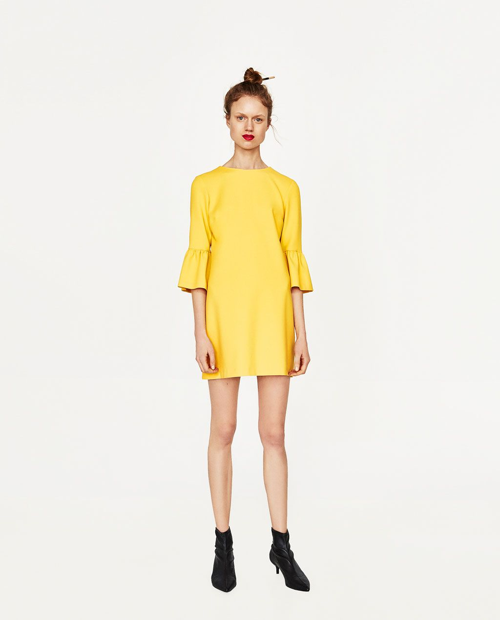 DRESS WITH FRILLED SLEEVES-DRESSES-WOMAN   ZARA United States ... 41591f1cb74