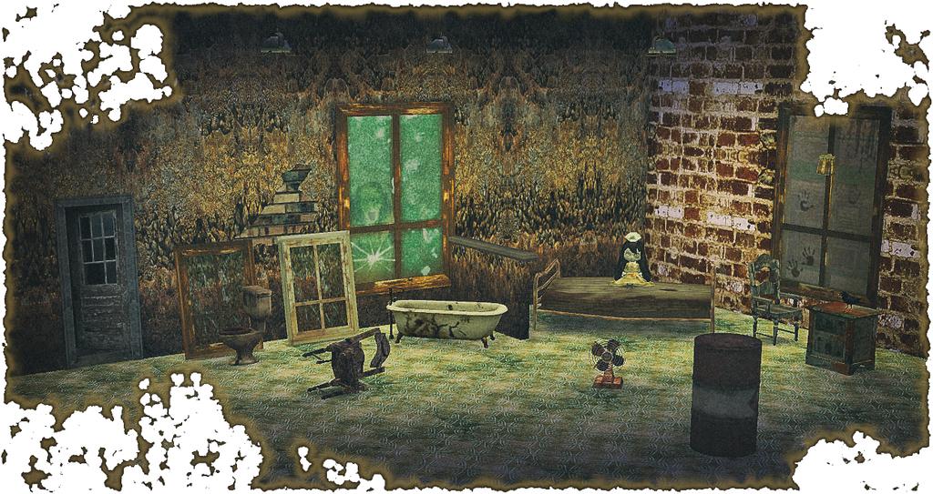 Haunted Abandoned House Creepy Set Updated Sims 4