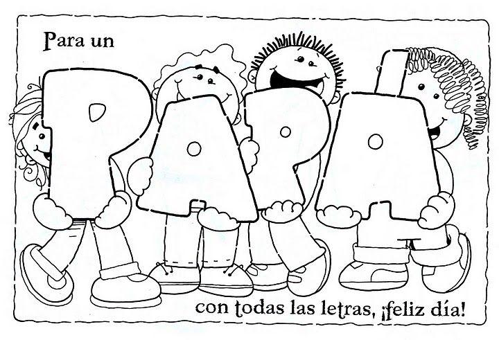 Dibujo para colorear del Día del Padre | Dia del Padre | Pinterest ...