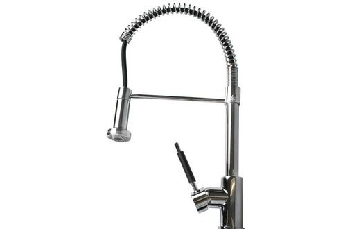 Robinet salle de bain Helloshop26 Robinet mitigeur cuisine douchette - mitigeur cuisine avec douchette extractible