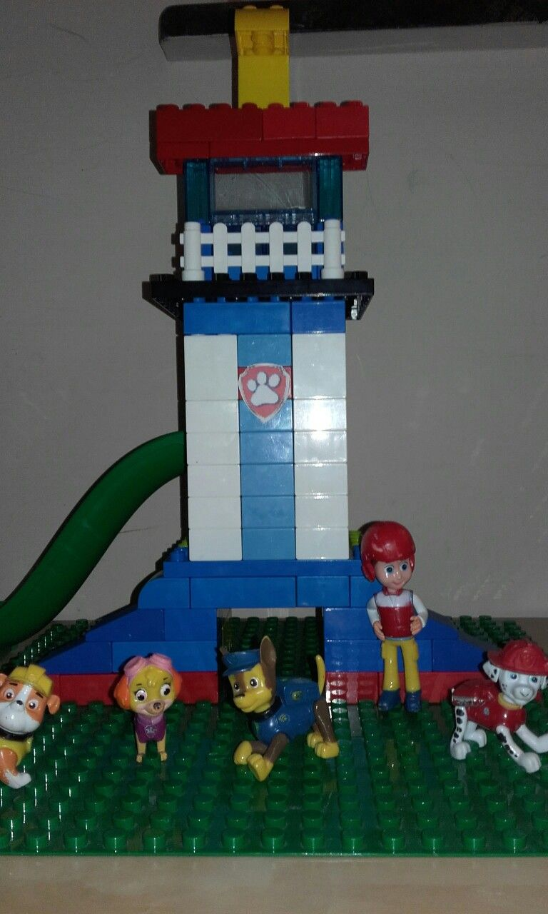 Paw Patrol Tower Lego Duplo And Unico Legos Rock Kinder