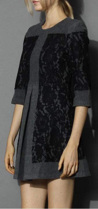 wool blend dress