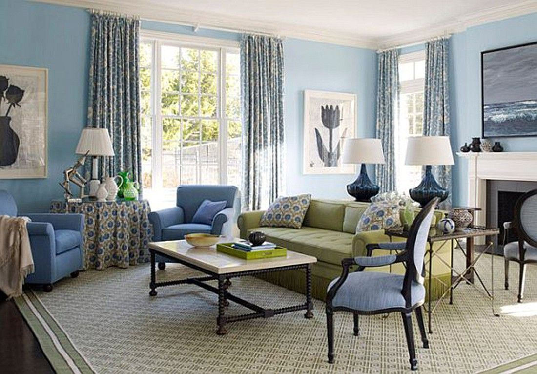 Decorating With Blues Greys Chartrues Blue Bedroom Decorating Ideas Light Blue Walls Blue Walls Living Room Country Living Room Blue Furniture Living Room
