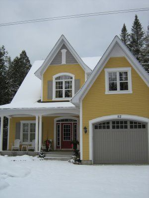 Yellow Decorating Inspiration And Grey House Exterior Paint Colors