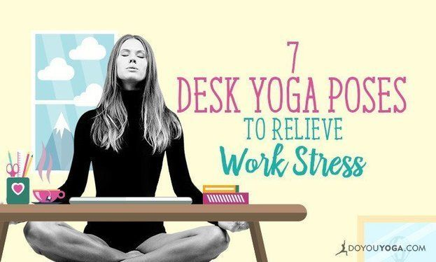 Some office yoga poses can be practiced in the limited space as well as a short span of time that you can steal during your office hours.....More..  #SimpleYoga #YogaforDeskJobs #YogaMoves #AurBataoKuch  Visit us... https://goo.gl/0dNEu7