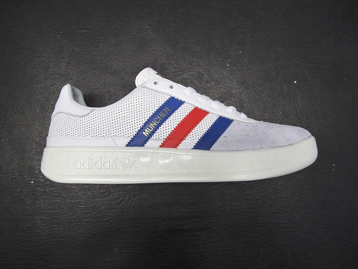 concepto pereza Representación  Adidas München white, blue and red. | Sneaker shopping, Adidas stan smith,  Adidas stan