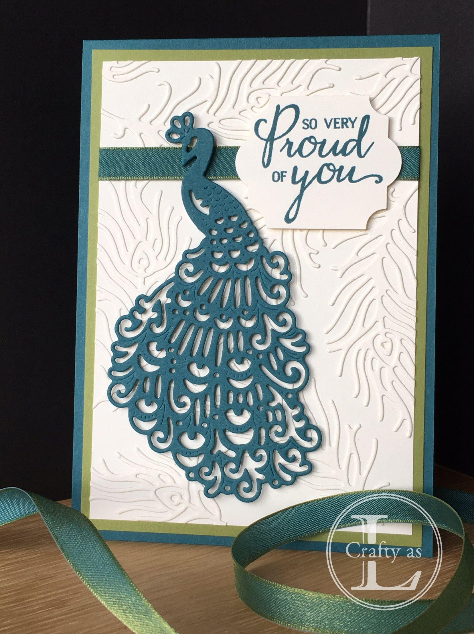 made using stampin' up royal peacock bundle  cards