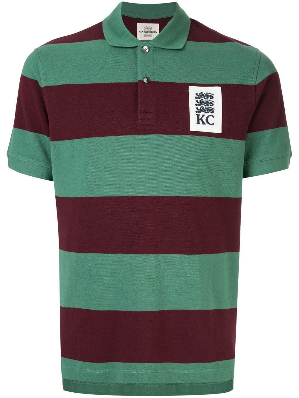 65d7ef438e2 KENT & CURWEN KENT & CURWEN STRIPED POLO SHIRT - GREEN. #kentcurwen #cloth