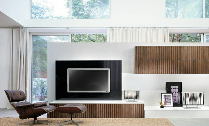Wandgestaltung wohnzimmer fernsehwand - Vorschlage fur wandgestaltung ...