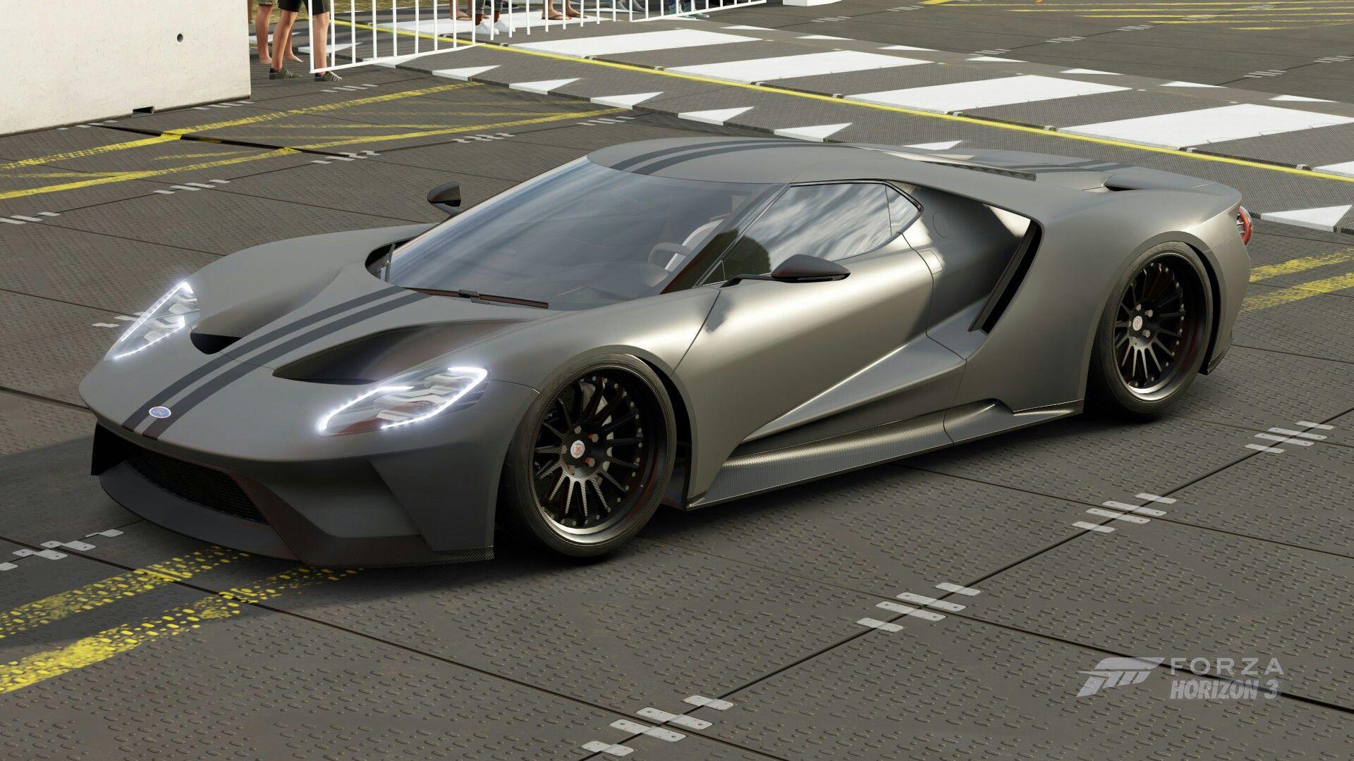 Ford Gt  Forza Horizon  Stealth Grey Carbon Fibre Ford Gt  Forza Horizon