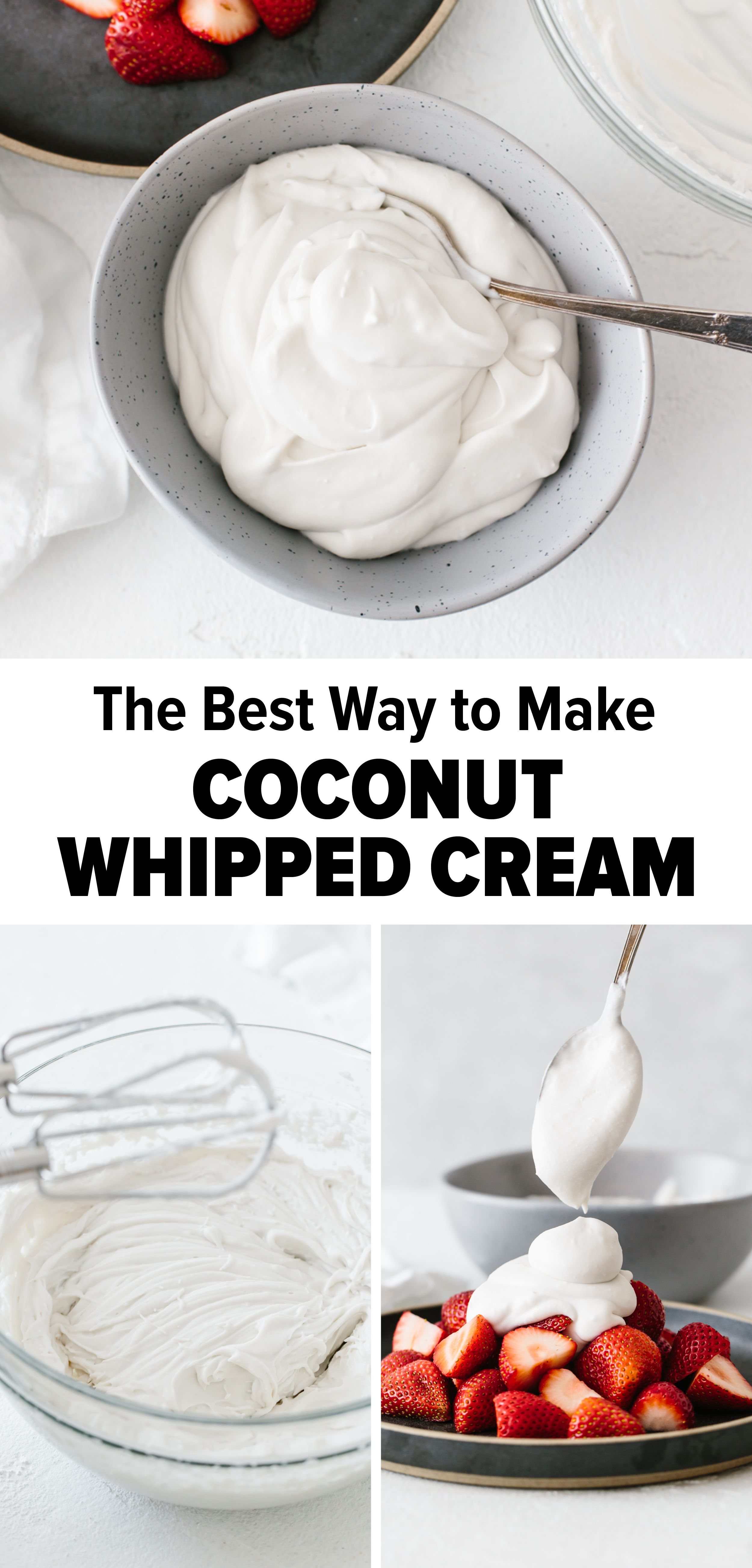 How To Make Coconut Whipped Cream Coconut Milk Recipes Coconut Recipes Recipes With Whipping Cream