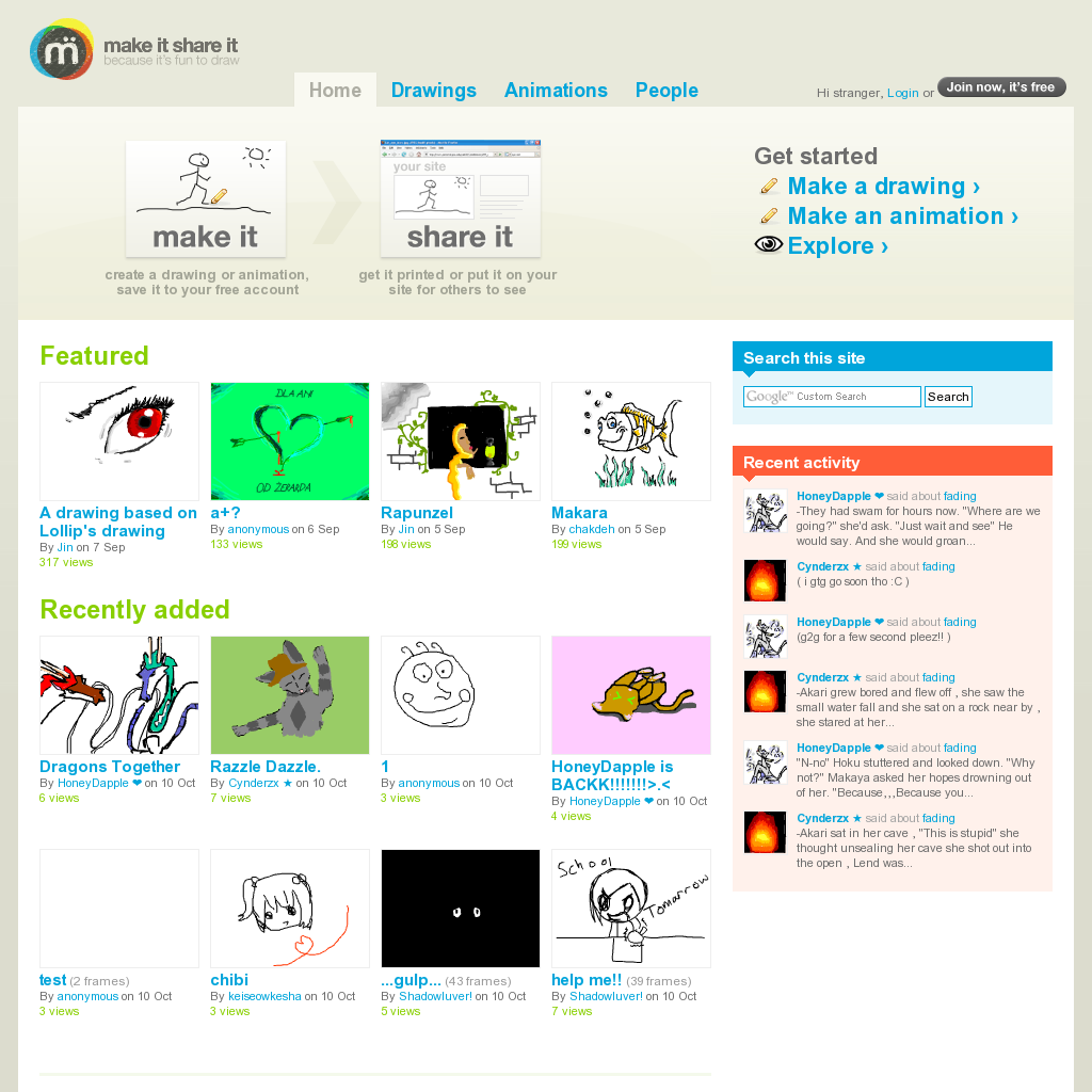 Free online drawing and animation tools and software... | Drawing ...