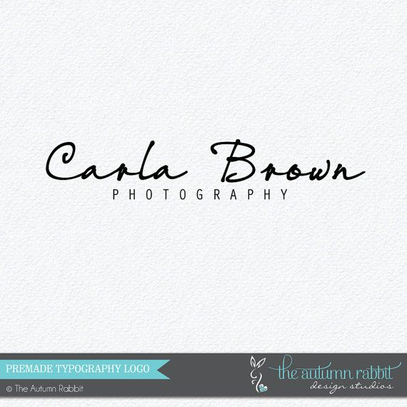 Premade Photography Logo Design - 2 font logo design - Business Branding - Photography Watermark on Etsy, $30.00