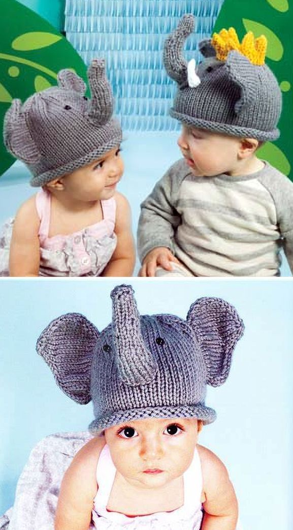 Free Knitting Pattern for Elephant Hat - Beanie with ears ...