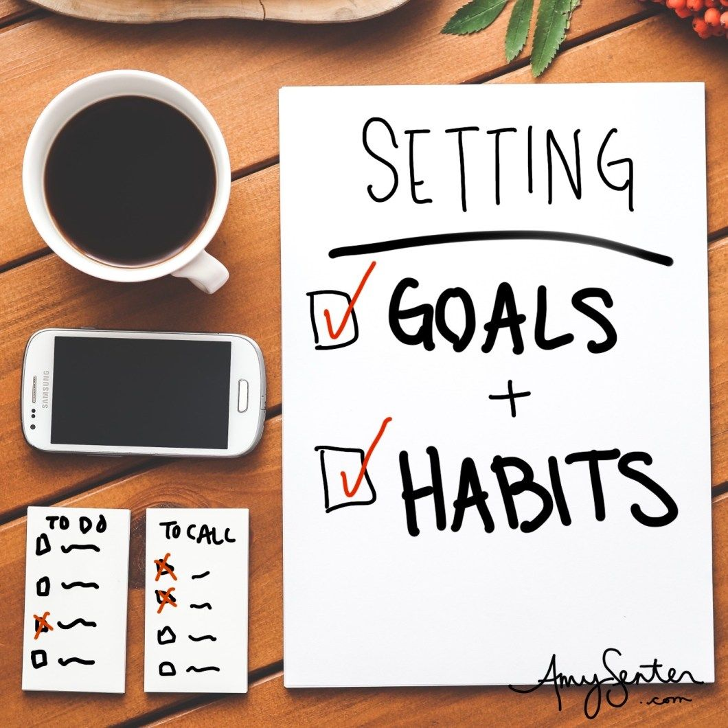 Making A Plan Setting A Goal And Habits In