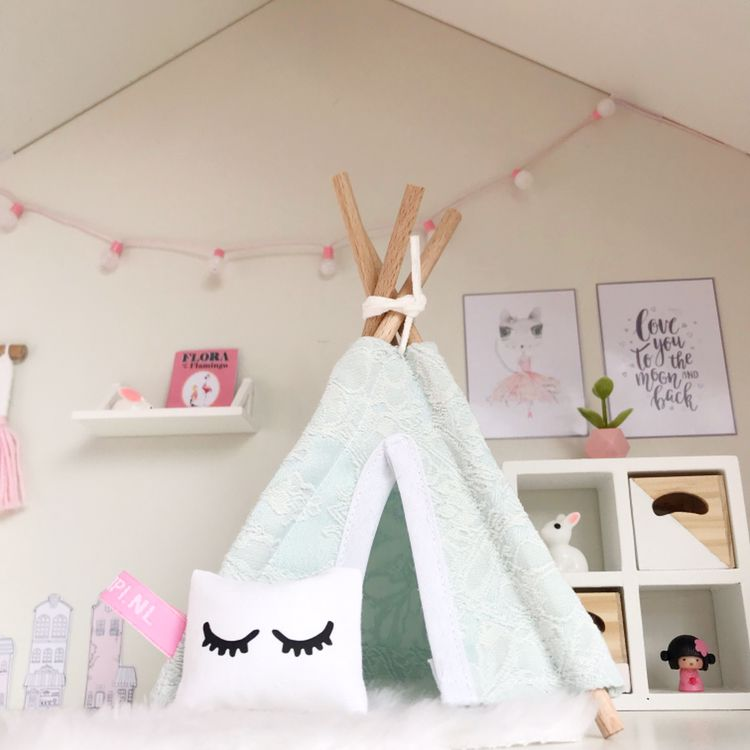 Modern dollhouse bedroom by Pretty Little Minis  #dollhousefurniture