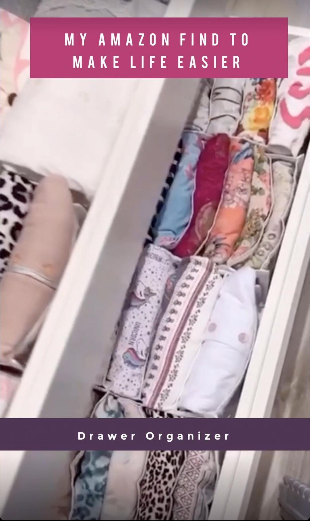 Baby cloth storage box, drawer divider organizer, Amazon finds -   18 DIY Clothes Storage life changing ideas