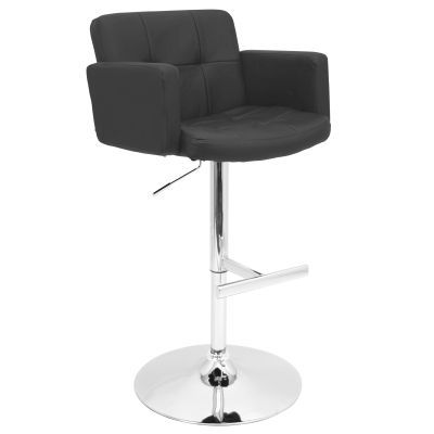 Stout Height Adjustable Barstool With Swivel Adjustable Bar