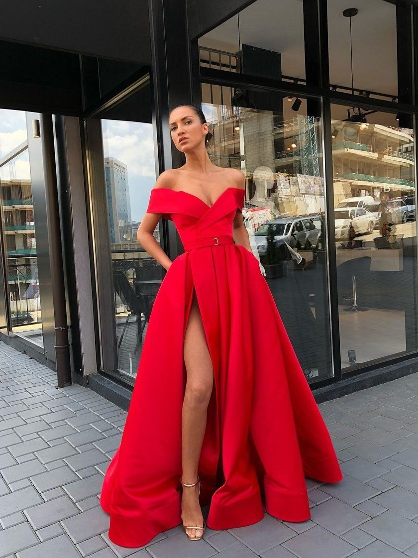 43 Stunning Red Prom Dress You Must Have Satin Evening Dresses Red Prom Dress Custom Prom Dress [ 1121 x 840 Pixel ]