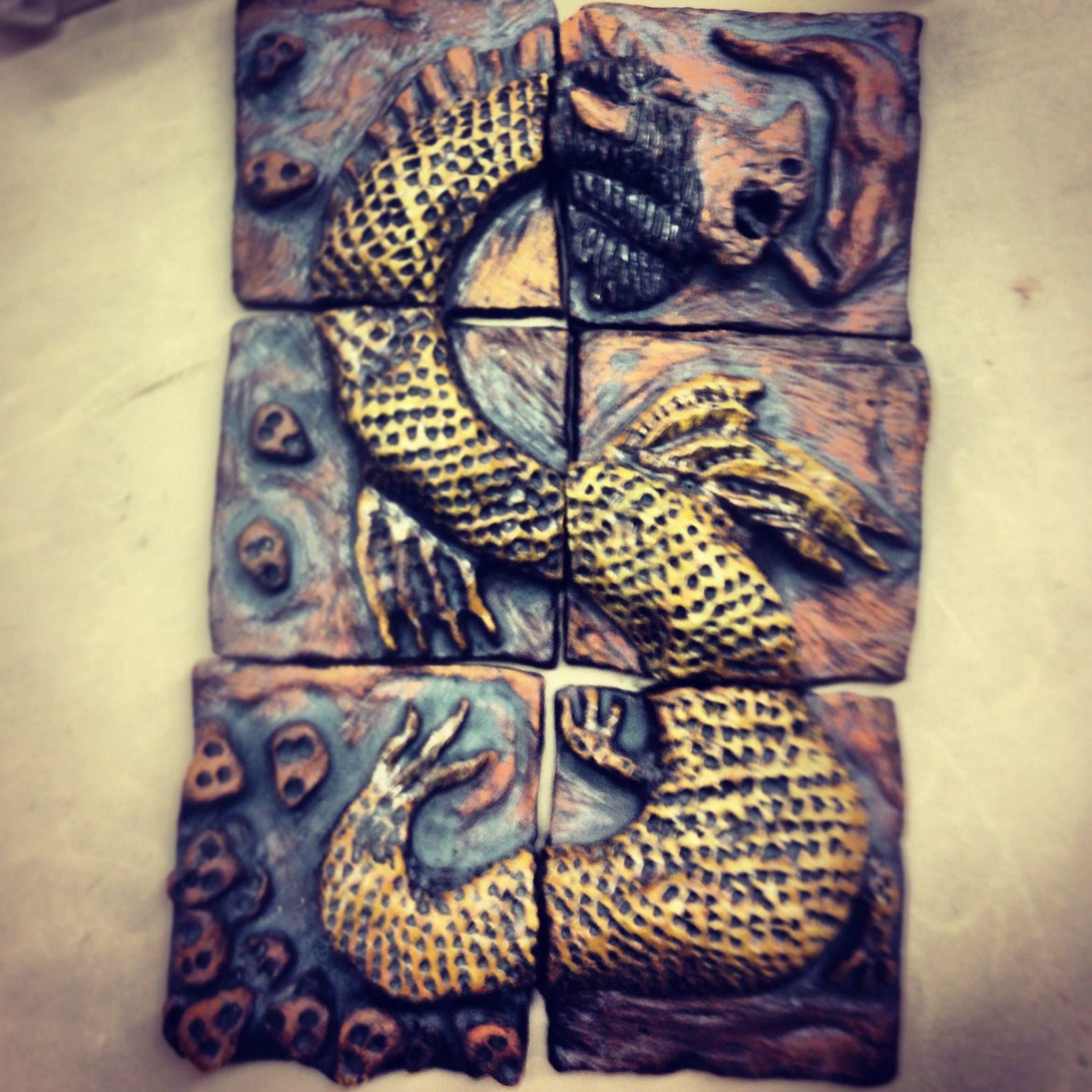 Ceramic dragon Mythical creatures, Artwork, Ceramics