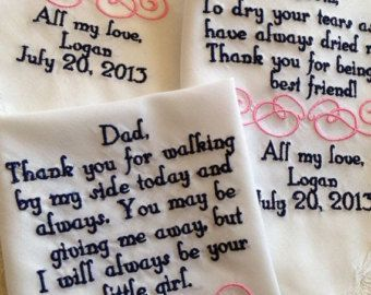 Personalized Father of the Bride wedding by BrideEmbroidery