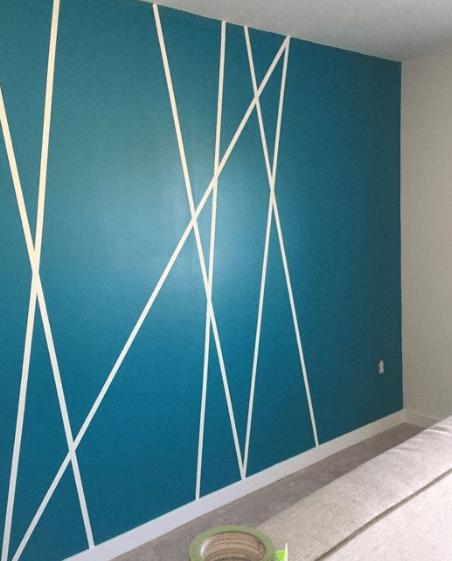 25 Diy Tape Mural Wall Art Paint Ideas Diy Wall Painting Diy Wall Design Bedroom Wall Paint