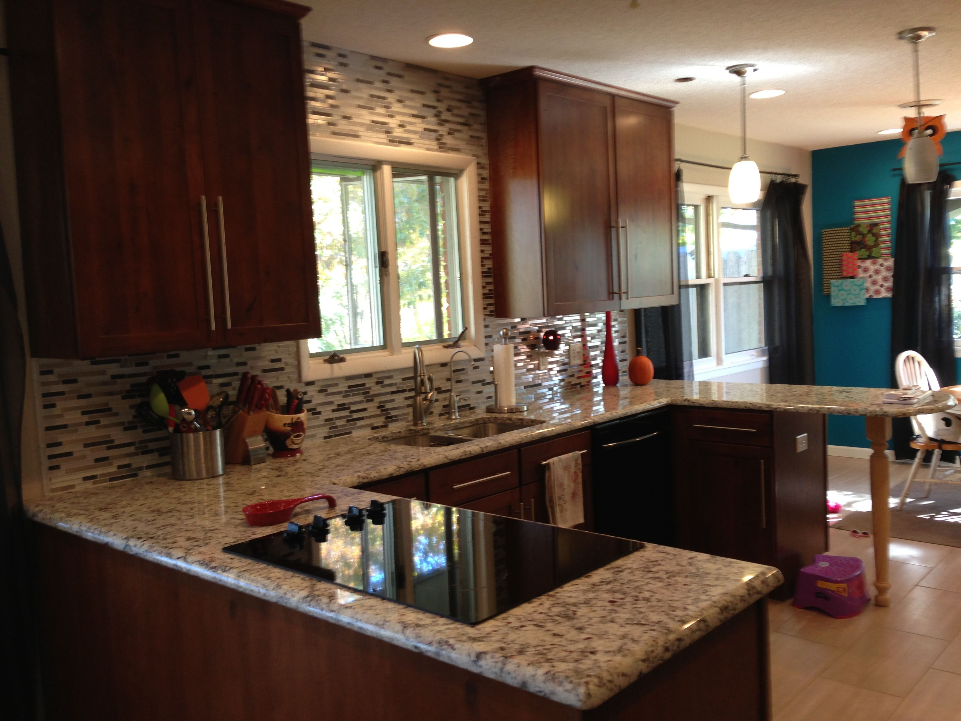 Ashen white granite, allen & roth glacier white backsplash ...