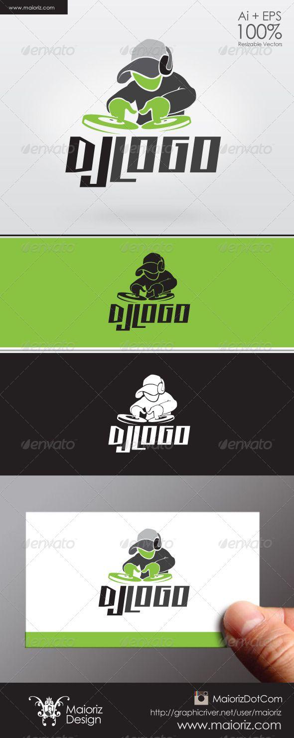 Dj Logo Template   Pinterest   Dj logo, Logo templates and Template