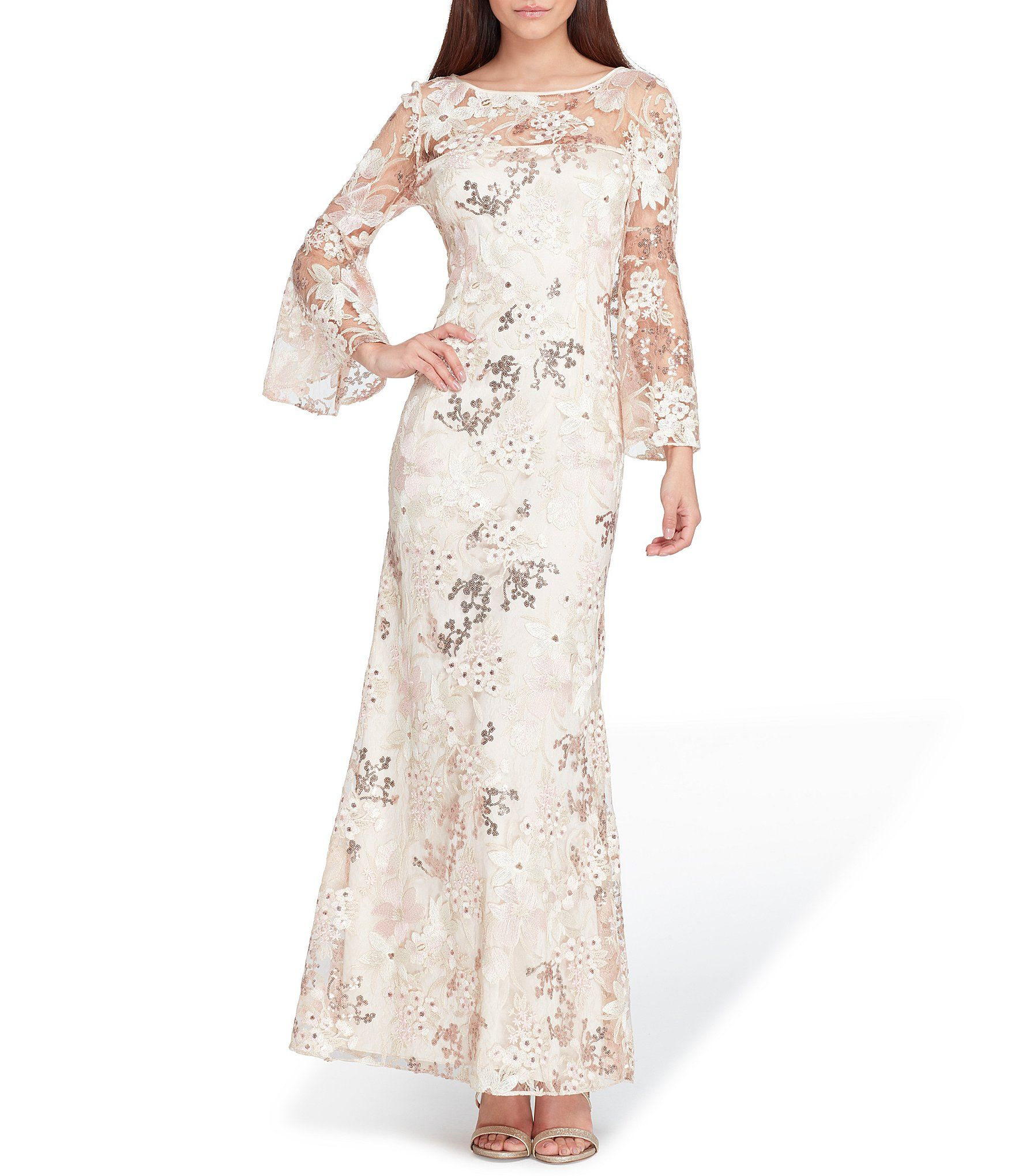 Tahari Asl Embroidered Novelty Gown Dillards Clearance Dresses Mother Of The Bride Dresses Dresses [ 2040 x 1760 Pixel ]